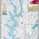Lake Wylie 327 Waterproof Lake Map