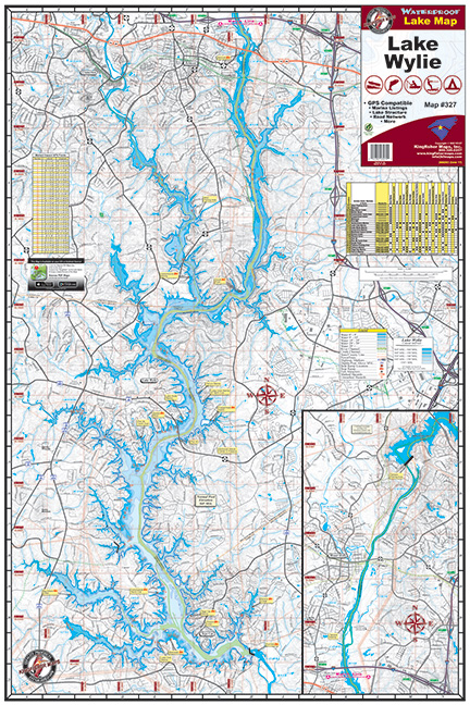 Lake Wylie 327 Kingfisher Maps Inc