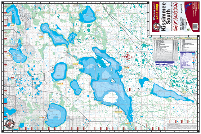 map of lake kissimmee Kissimmee Chain South 329 Kingfisher Maps Inc map of lake kissimmee