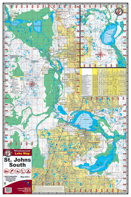 St Johns River South 331 Kingfisher Maps Inc