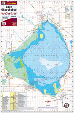 Lake Okeechobee Waterproof Lake Map 334