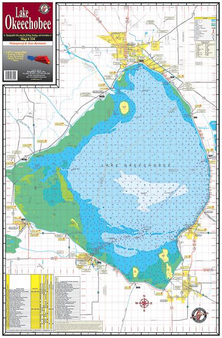 Lake Okeechobee 334 Kingfisher Maps Inc