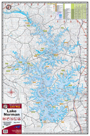 Lake Norman Waterproof Lake Map 341
