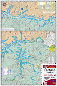 Lake Fontana Waterproof Lake Map 342