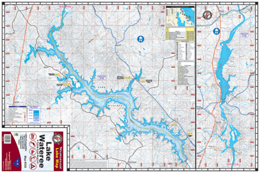 Lake Wateree Waterproof Lake Map 350