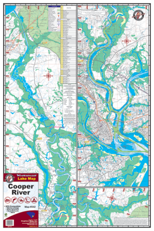Cooper River Waterproof River Map 352