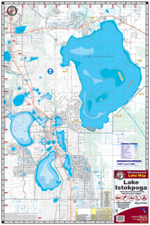 Waterproof Lake Map Lake Istokpoga 7000