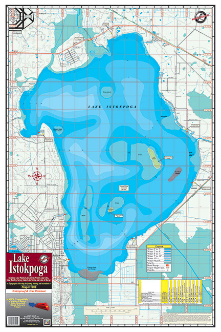 Lake istokpoga 7000 kingfisher maps inc for Lake istokpoga fishing