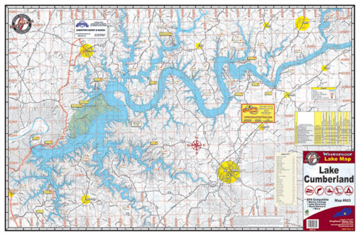 Lake Cumberland Waterproof Lake Map Front 803