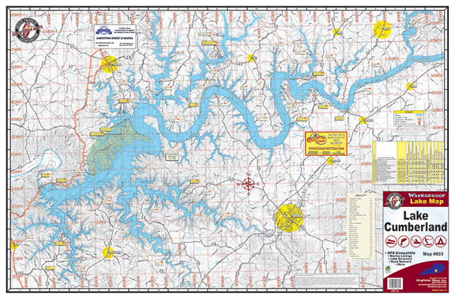 Lake cumberland 803 kingfisher maps inc for Ky fishing license