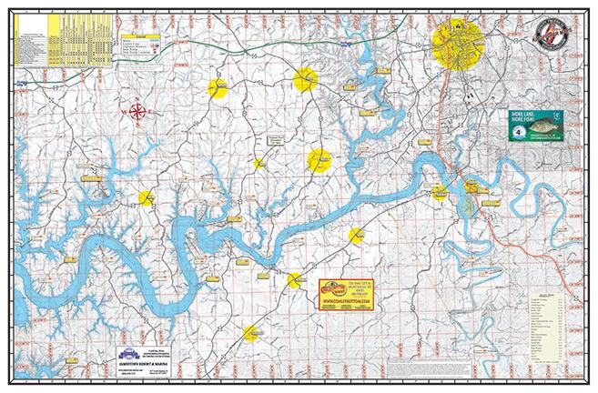 lake cumberland 803 kingfisher maps inc