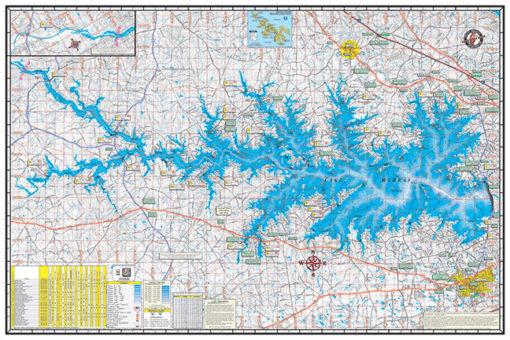 Lake Murray Poster P311 Kingfisher Maps Inc