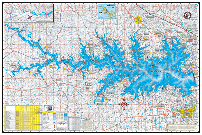 lake murray topographic map Lake Murray Poster P311 Kingfisher Maps Inc lake murray topographic map
