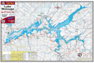Lake Watauga 1724 Waterproof Lake Map