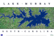 Lake Murray Aerial Poster AV105