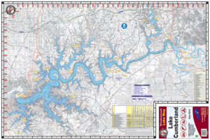 Lake Cumberland Waterproof Lake Map #803