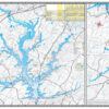 Badin Tillery High Rock Tuckertown Waterproof Lake Map Back 1200