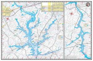 Badin Tillery High Rock Tuckertown Waterproof Lake Map Back 1200