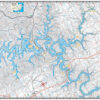 Center Hill Lake Waterproof Lake Map 1700