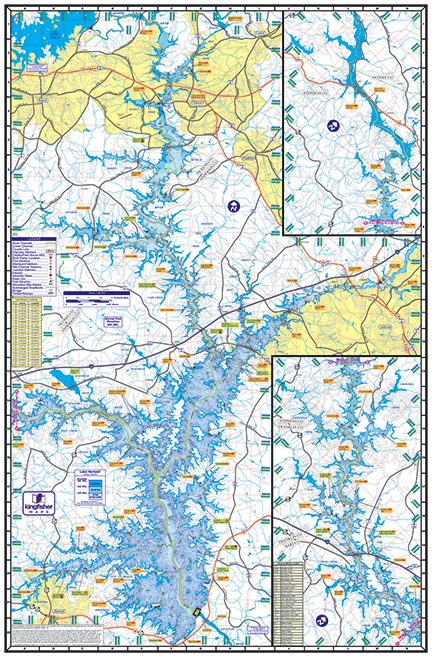 Lake Hartwell Waterproof Lake Map Back 302
