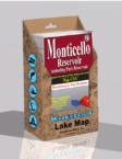 Monticello Reservoir Waterproof Lake Map Display Box