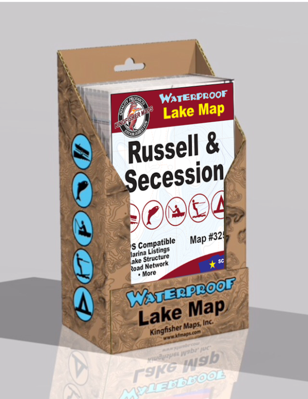 Lake Russell Lake Secession Waterproof Lake Map Display Box