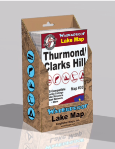 Thurmond Lake Clarks Hill Lake Waterproof Lake Map Display Box