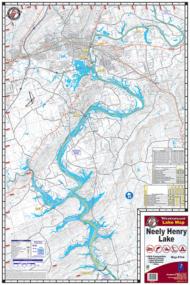 Neely Henry Lake Waterproof Lake Map 104