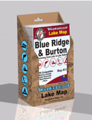 Blue Ridge Lake Burton Lake Waterproof Lake Map 319