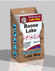 Boone Lake Waterproof Lake Map 1740