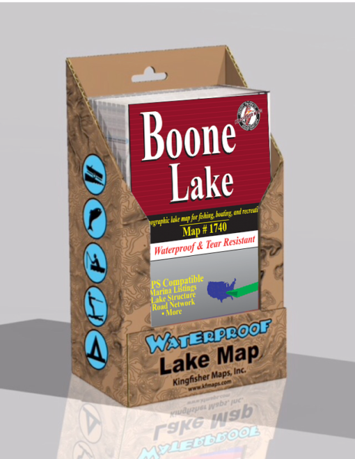 Boone Lake Waterproof Lake Map 1740