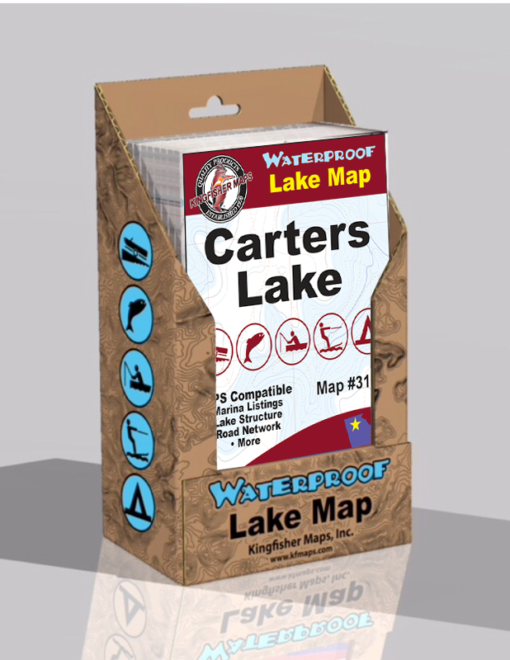 Carters Lake Waterproof Lake Map 316