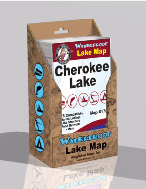 Cherokee Lake Waterproof Lake Map 1702