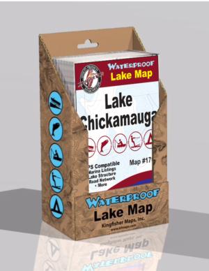 Lake Chickamauga Waterproof Lake Map 1704