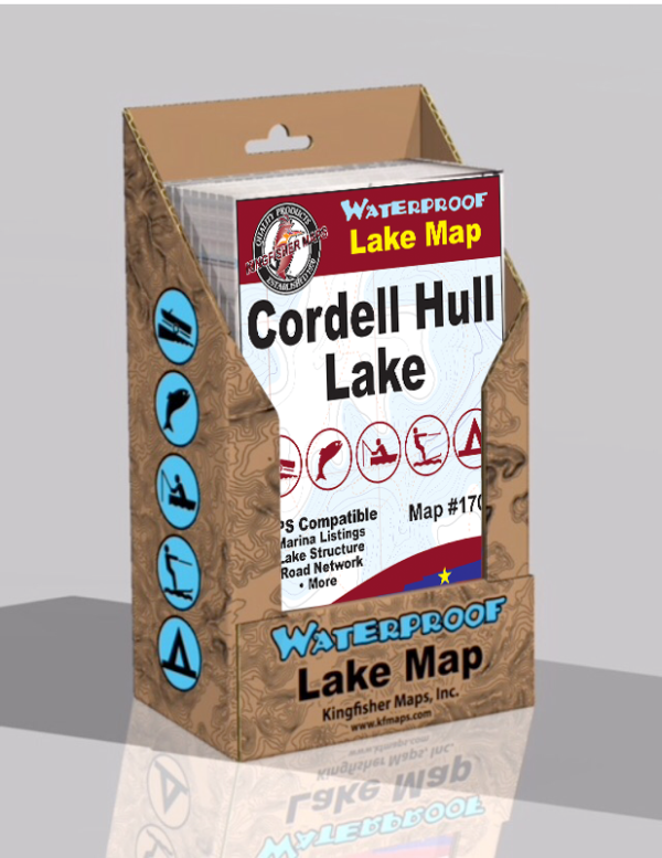 Cordell Hull Lake Waterproof Lake Map 1706