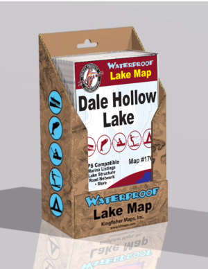 Dale Hollow Lake Waterproof Lake Map 1708