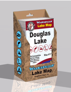 Douglas Lake Waterproof Lake Map 1710