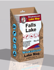 Falls Lake Waterproof Lake Map 340