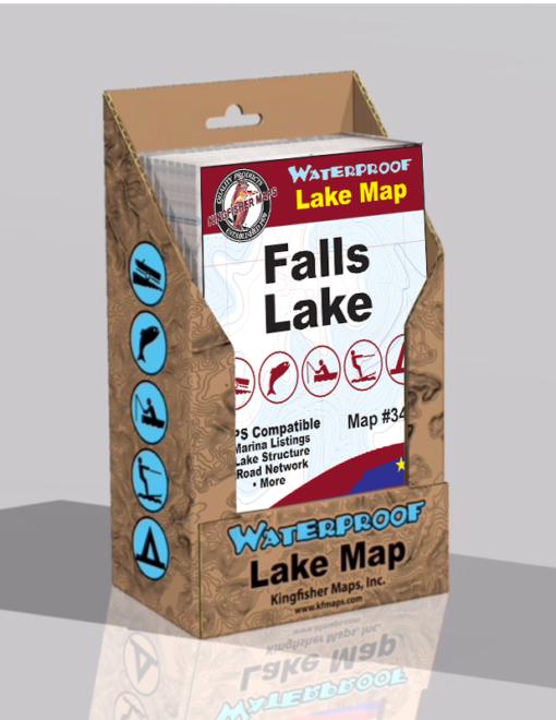 Falls Lake Waterproof Lake Map 340