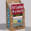 Fort Loudon Lake Melton Hill Lake Waterproof Lake Map 1712