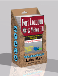 Fort Loudon Lake Melton Hill Lake Waterproof Lake Map 1712