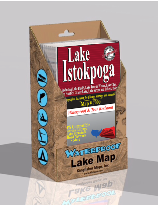 Lake Istokpoga Waterproof Lake Map 7000