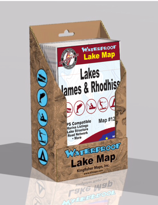 Lake James Lake Rhodhiss Waterproof Lake Map 1214