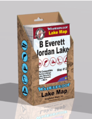 B Everett Jordan Lake Waterproof Lake Map 1202