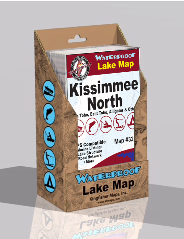 Kissimmee Chain of Lakes North Waterproof Lake Map 328