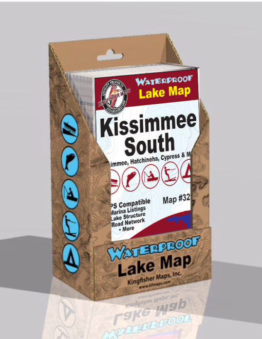 Kissimmee Chain of Lakes South Waterproof Lake Map 329