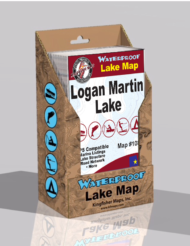 Logan Martin Lake Waterproof Lake Map 108