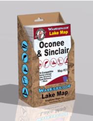 Lake Oconee Lake Sinclair Waterproof Lake Map 317