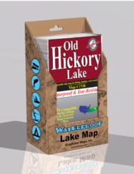 Old Hickory Lake Waterproof Lake Map 1730