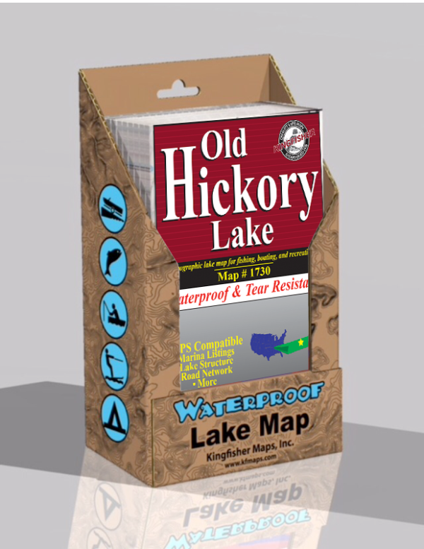 Old Hickory Lake Waterproof Lake Map 1730